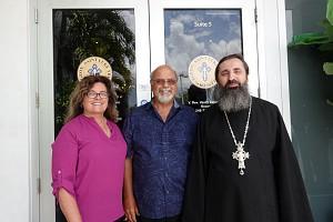 Fr, Vasily with Alexis & Katherine Lukianov