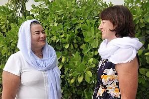 Senior Sister Zita Gurevich (left) and Treasurer Galina Khokhlova