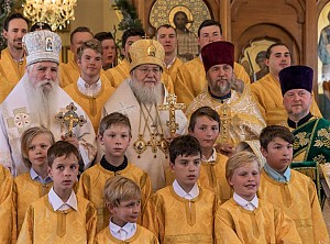At the Nativity service in Sts. Peter & Paul Cathedral in Sydney, 2018