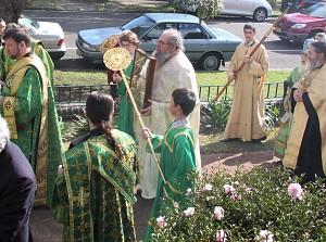 Aboriginal priest Fr. Seraphim Slade, Archbishop's Chapel in Croydon