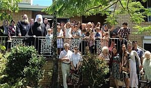 Lesser consecration of the first Russian Orthodox Church in Gold Coast, dedicated to Blessed Xenia of St. Petersburg, December 2013