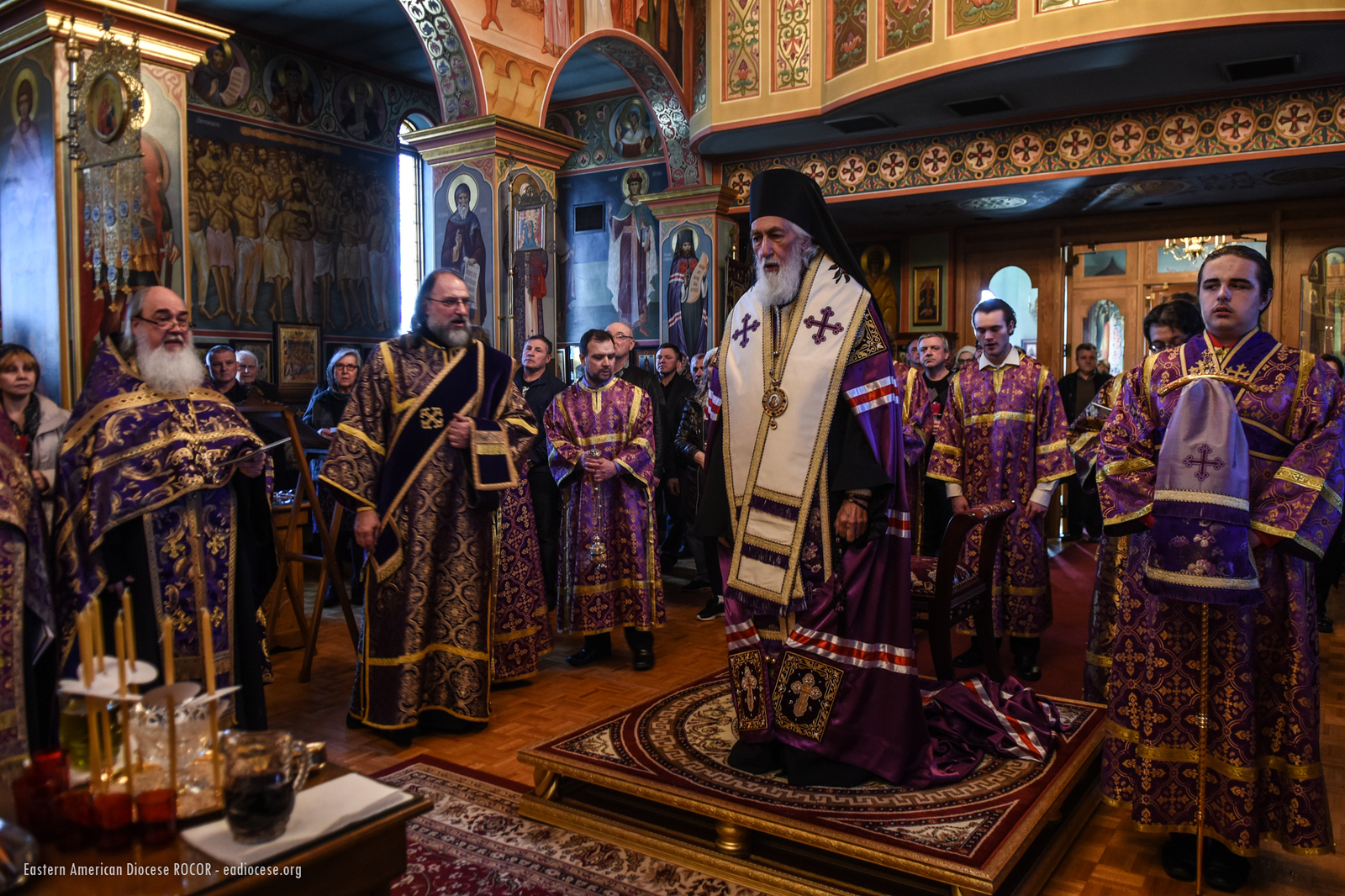 Eastern american diocese of the russian orthodox church abroad most of the people in church received christs holy mysteries which were distributed from three chalices upon completion of liturgy bishop nikolai kristyandbryce Image collections